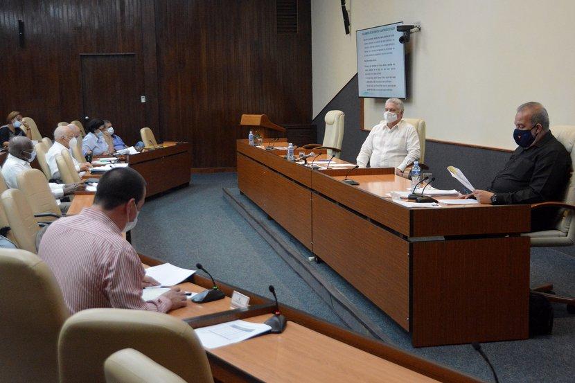 El presidente cubano abogó por el respeto estricto a los protocolos establecidos ante la COVID-19. (Foto: Estudios Revolución)