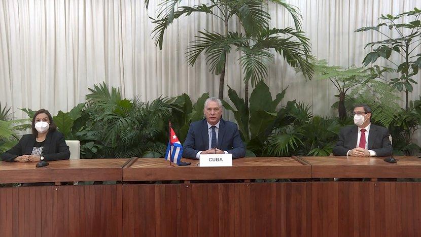 El presidente cubano llamó a no seguir comprometiendo la supervivencia humana con irracionales egoísmos. (Foto: Estudios Revolución)