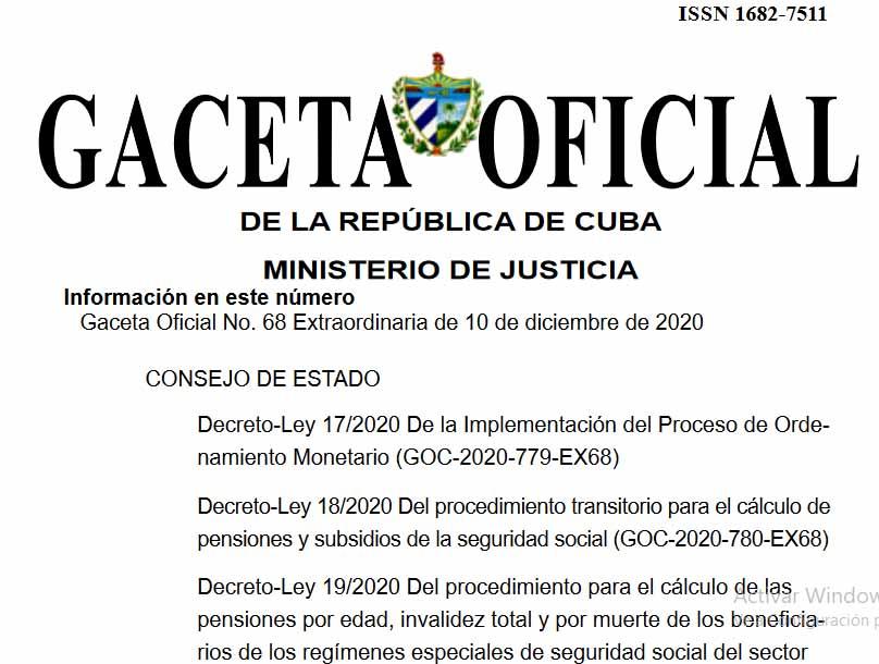 La Gaceta Oficial publicó ocho números extraordinarios con las regulaciones de la Tarea Ordenamiento.