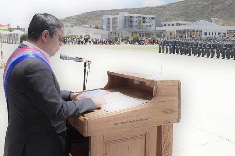 El presidente Luis Arce dijo que los militares deben subordinarse a los bolivianos y señaló que nunca más deben repetirse matanzas como las de 2019. (Foto: PL)