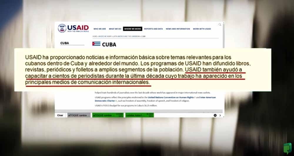 Razones de Cuba denunció la implicación de organizaciones de Estados Unidos para el bombardeo mediático sobre la mayor de las Antillas en la web.