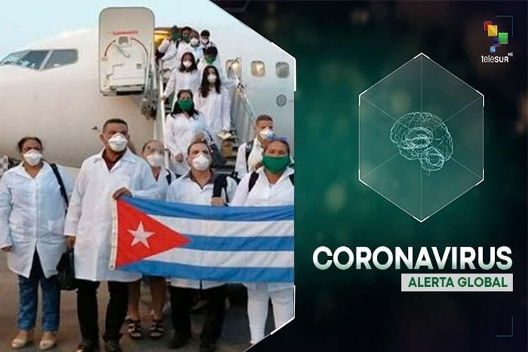 Televisoras, radioemisoras y diarios reflejaron el arribo de la brigada médica cubana a la nación istmeña. (Foto: PL)