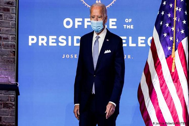 El demócrata superó la barrera de 270 votos necesarios para llegar a la Casa Blanca, como se había anticipado desde las elecciones del 3 de noviembre. (Foto: PL)
