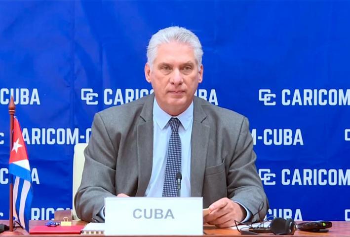 cuba, caricom, miguel diaz-canel, presidente de la republica de cuba