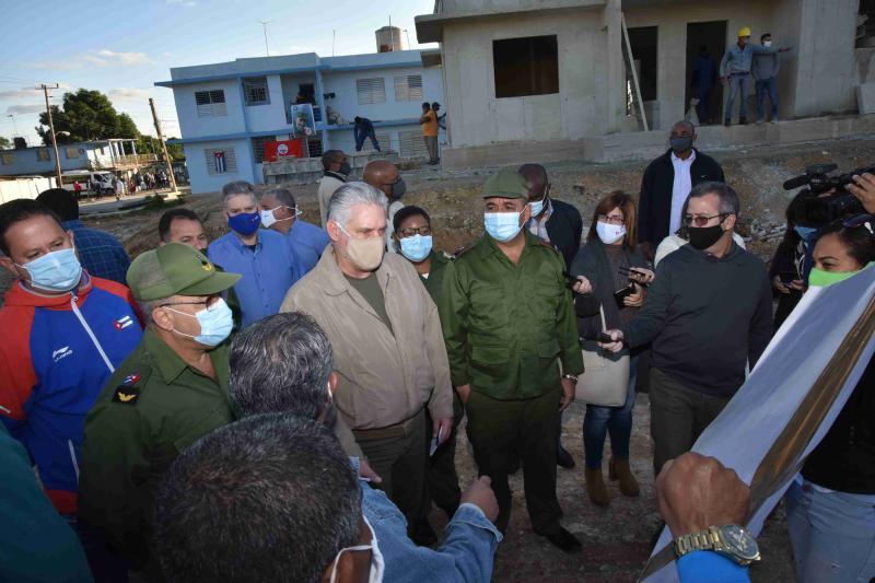 cuba, la habana, visita gubernamental, miguel diaz-canel, presidente e la republica de cuba, construccion de viviendas