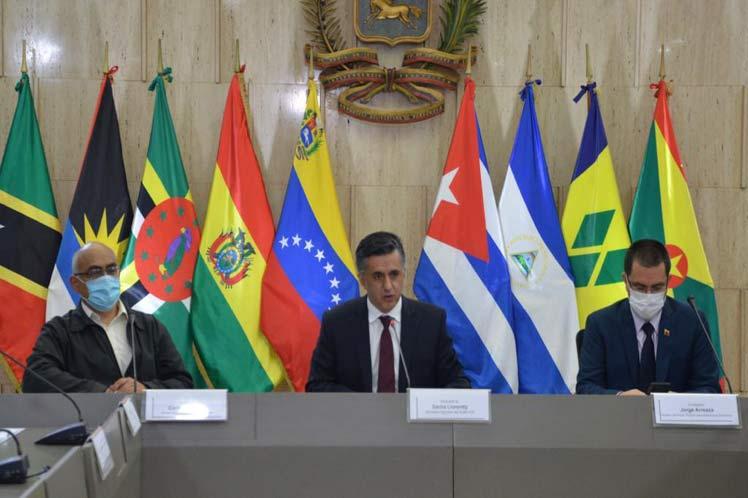 El secretario ejecutivo del ALBA-TCP, Sacha Llorenti, anunció la disposición de un fondo a través del Banco del Alba con este fin. (Foto: PL)