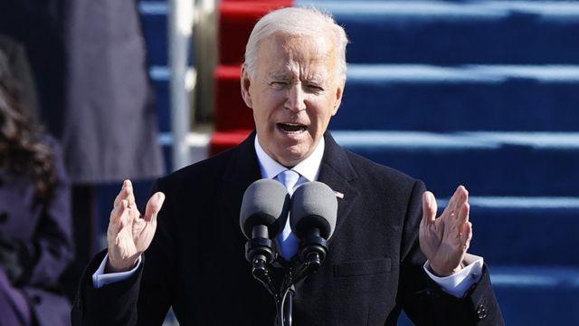 El discurso de Joe Biden revistió indudable intención conciliadora para un país altamente polarizado. (Foto: Reuters)