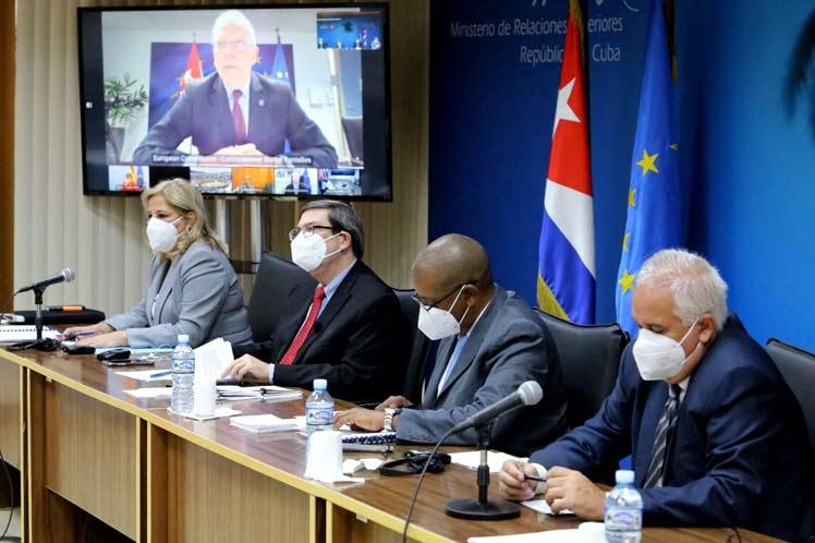 El canciller cubano encabezó la delegación de la nación caribeña que participó este miércoles en dicho encuentro, realizado de forma virtual. (Foto: PL)