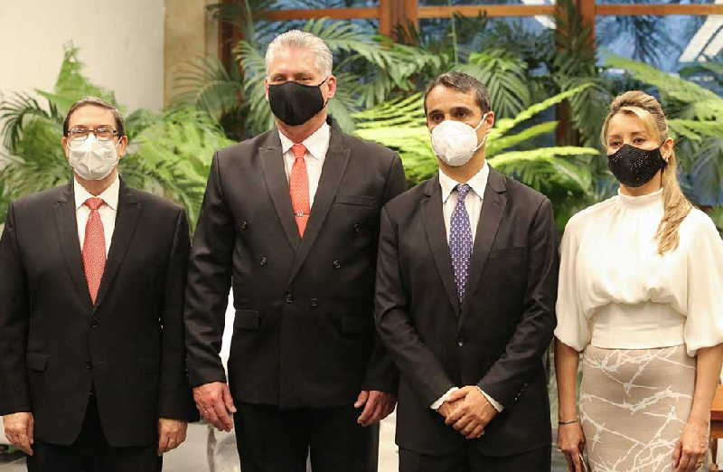 cuba, minrex, embajadores, cartas credenciales, miguel diaz-canel, presidente de la republica de cuba