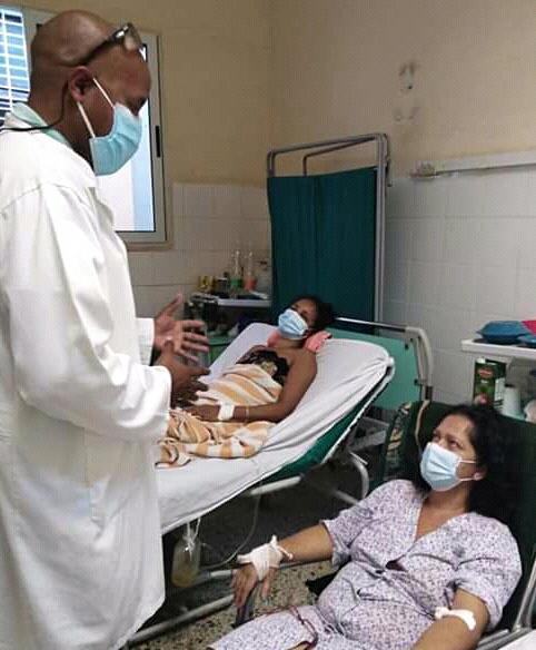 Las atenciones médicas recibidas por los accidentados fueron destacadas por Marisel. La foto corresponde al hospital de San José de las Lajas. Foto: Cortesía de la entrevistada.