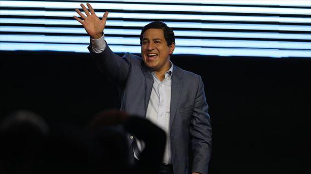 Andrés Arauz ganó la primera vuelta de las elecciones en Ecuador. (Foto: EFE)