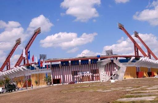 Vista del estadio José Antonio Huelga, donde se desarrollará el duelo entre Elefantes y Cocodrilos. Foto: ACN.