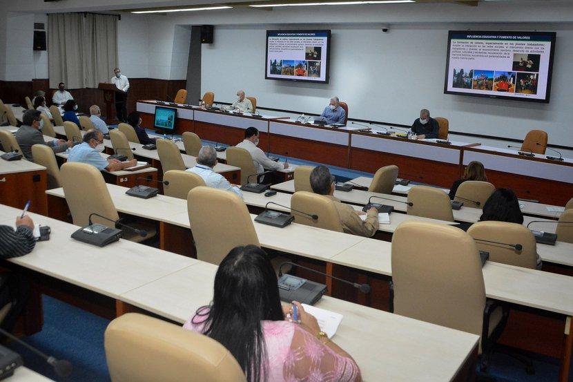 Prioridades esenciales y viables se ha trazado BioCubaFarma para el 2021, según trascendió en encuentro presidido por Díaz-Canel. (Foto: Estudios Revolución)