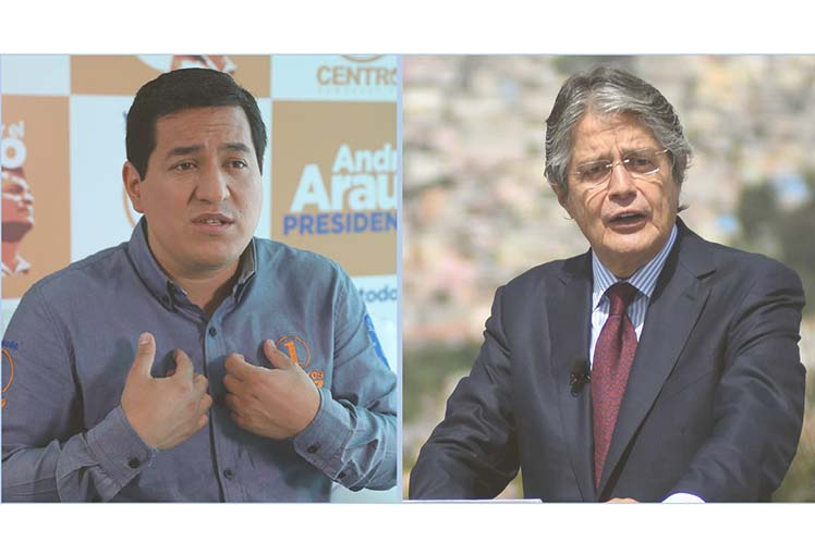 La denuncia la hicieron Andrés Arauz y Guillermo Lasso, quienes pasaron al balotaje del 11 de abril. (Foto: PL)