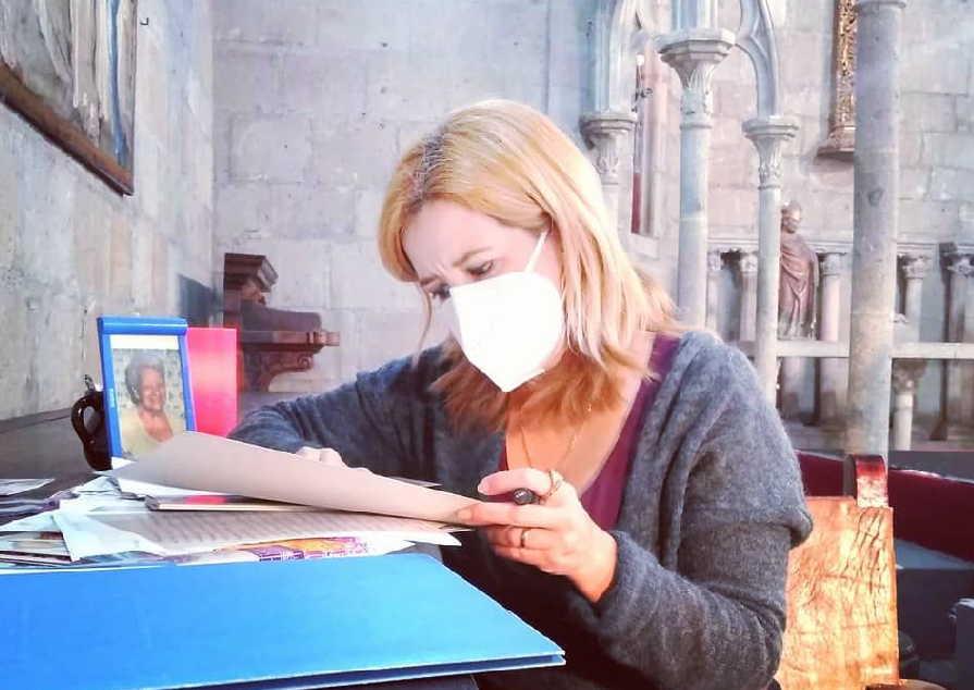 La Capilla Gótica del Instituto Cultural Helénico, A.C. Oficial, de Ciudad de México, acogió una de las propuestas de la poetisa espirituana. (Foto: Tomada del perfil de Facebook de la entrevistada)