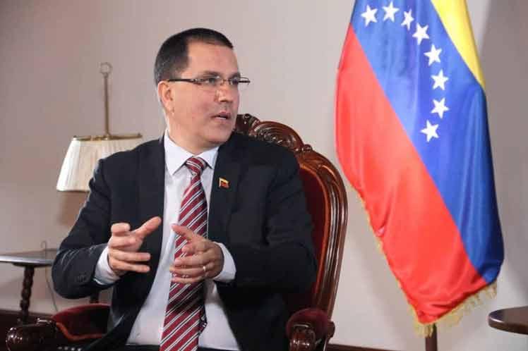 venezuela, jorge arreaza, venezuela-estados unidos, relaciones diplomaticas, bloque de eeuu a venezuela