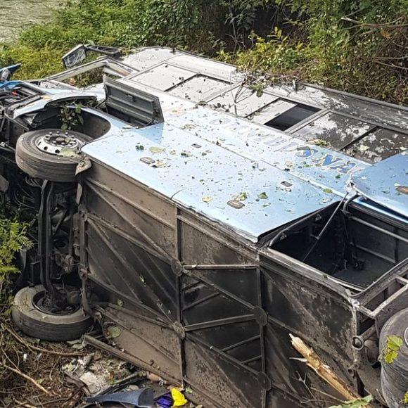 El accidente ocurrió en el kilómetro 42 de la Autopista Nacional. Foto: Yaremi Maderos