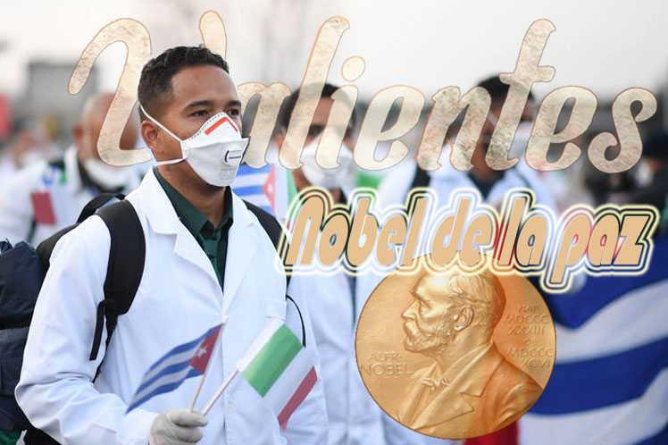 cuba, medicos cubanos, premio nobel de la paz, contingente henry reeve, reino unido