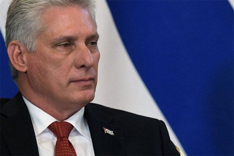 El presidente cubano intervino en una reunión de delegados al Congreso efectuada en La Habana. (Foto: PL)