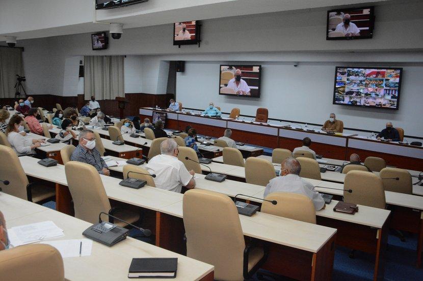 La reunión anual de trabajo del Ministerio de Cultura este lunes estuvo encabezada por el Primer Ministro, Manuel Marrero Cruz. (Foto: Estudios Revolución)