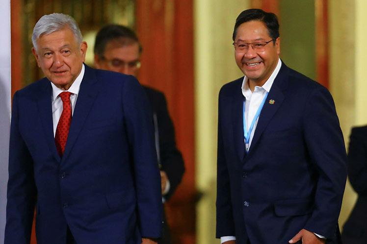 López Obrador y Luis Arce encabezaron sus respectivas delegaciones en el diálogo. (Foto: PL)