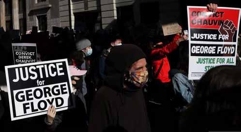La tensión crece en Minneapolis, ciudad de Minnesota donde se realiza el juicio. (Foto: France 24)