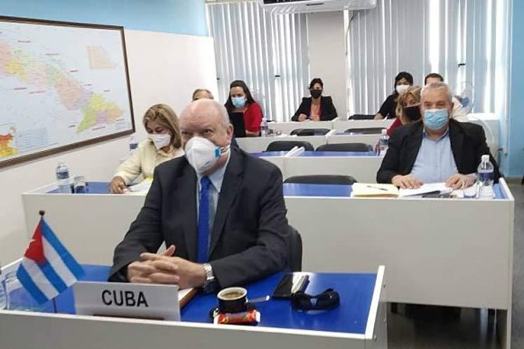Rodrigo Malmierca intervino de forma virtual en la Cuarta Reunión del Foro de los países de América Latina y el Caribe sobre Desarrollo Sostenible. (Foto: PL)