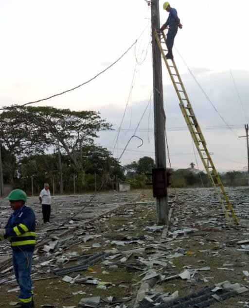 La TLS se hizo sentir con fuerza en las inmediaciones del combinado deportivo Mártires de Cabaiguán. (Foto: Osbel Ramón Díaz)