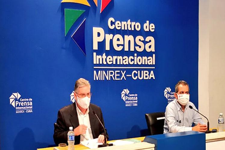 Alejandro Gil dió a conocer la campaña Cuba avanza con Paso 2030. (Foto: PL)