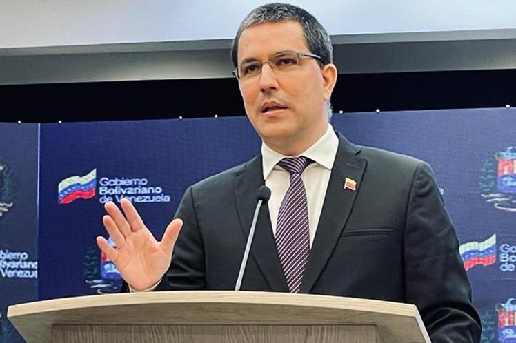 El canciller venezolano denunció que los medios de comunicación mantienen una campaña de mentiras. (Foto: PL)