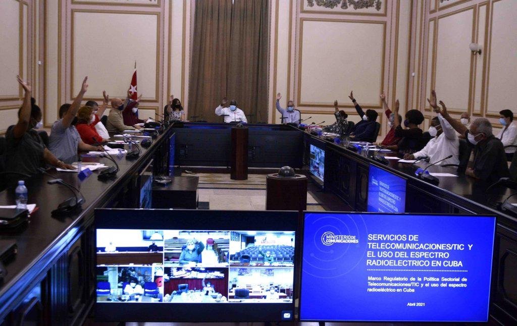 La sesión de este martes contó con la participación en formato virtual del Presidente cubano y del primer ministro. (Foto: Tony Hernández Mena)