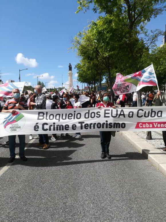En Portugal, la solidaridad con Cuba también se hizo presente. (Foto: Sergio Manuel Ferreira Pereira)