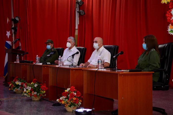 Lo más revolucionario dentro de la Revolución tiene que ser el Partido, aseguró Díaz-Canel en el Pleno del PCC en Cienfuegos. (Foto: Estudios Revolución)