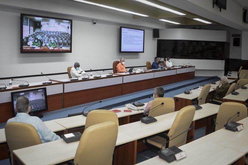 Sancti Spíritus rindió cuentas este miércoles al Grupo Temporal, cuya sesión encabezaron Díaz-Canel y Manuel Marrero. (Foto: Estudios Revolución)