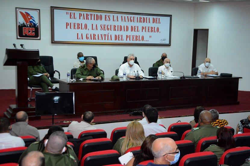 Díaz-Canel intervino en el Pleno Extraordinario del Comité Provincial del PCC en La Habana. (Foto: Estudios Revolución)