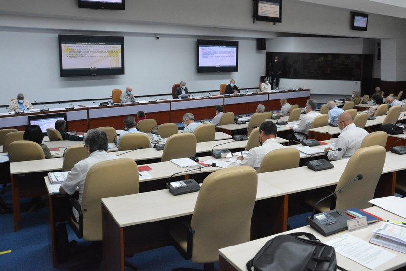 El presidente Miguel Díaz-Canel encabezó la reunión del Consejo de Ministros. (Foto: Estudios Revolución)