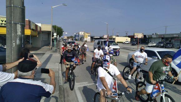 Miami figuró entre las ciudades donde se organizaron manifestaciones de apoyo a Cuba.
