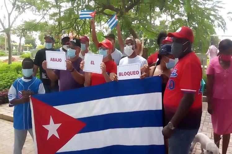 En Angola también se hizo sentir el rechazo al bloqueo. (Foto: PL)