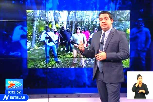 En el reporte se denunció a la organización terrorista llamada La Nueva Nación Cubana, que realizan entrenamientos 'esperando el gran día'. (Foto: Captada de TVC)