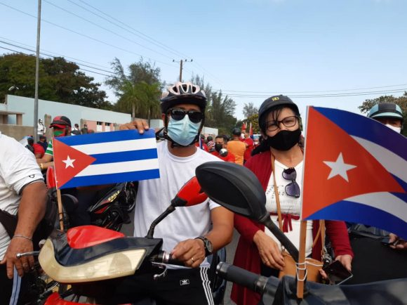 En Las Tunas, como en otras partes de Cuba, el pueblo expresó su rechazo al bloqueo.