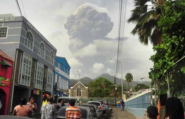 san vicente y las granadinas, volcan, desastres naturales