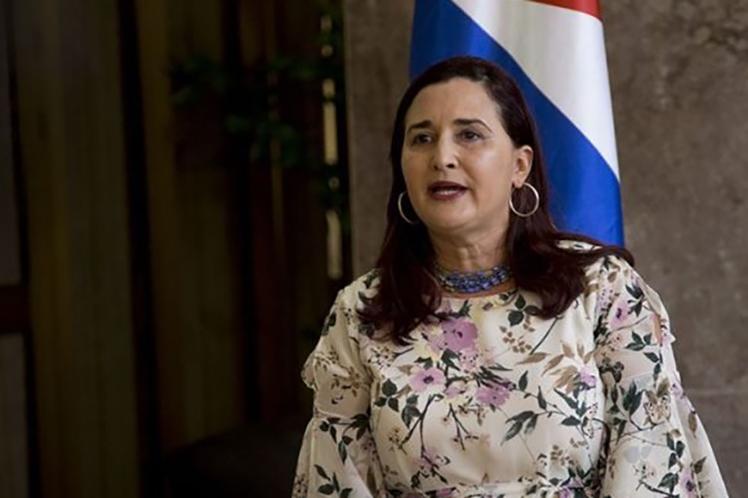 'Estados Unidos no tiene autoridad moral para hablarle a Cuba de derechos humanos', aseguró Johana Tablada. (Foto: PL)
