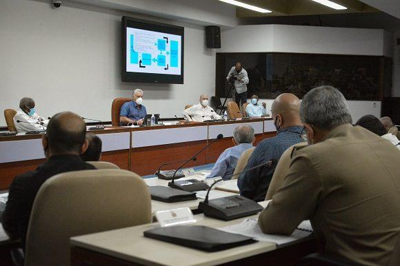 Miguel Díaz-Canel tuvo a su cargo de las palabras de clausura del encuentro. (Foto: Estudios Revolución)