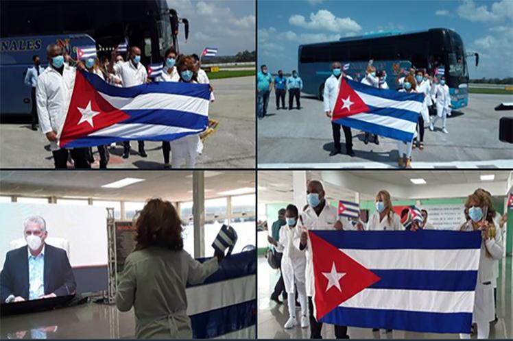 El grupo fue recibido de manera virtual por el presidente de la República, Miguel Díaz-Canel. (Foto: PL)