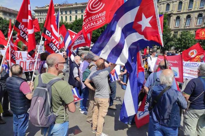 cuba, solidaridad con cuba, bloqueo de eeuu a cuba, italia