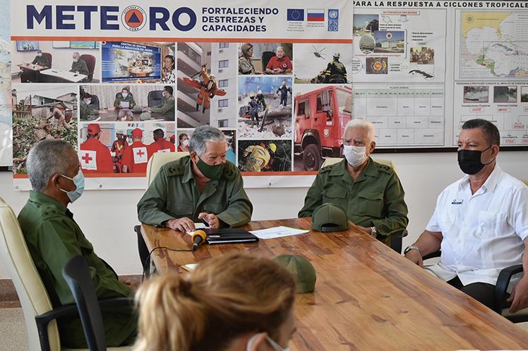 El jefe del Estado Mayor Nacional de la Defensa Civil llamó a actualizar los planes de medidas y su aseguramiento. (Foto: PL)
