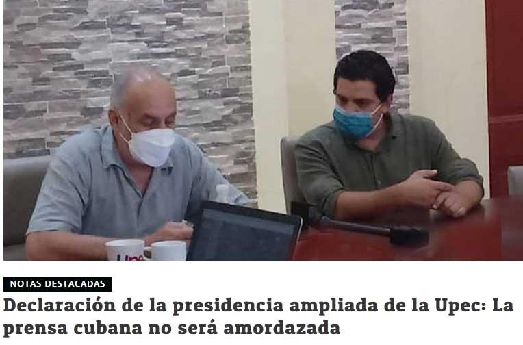 La organización manifestó su rechazo a tales acciones a través de una declaración publicada en el sitio web Cubaperiodistas.