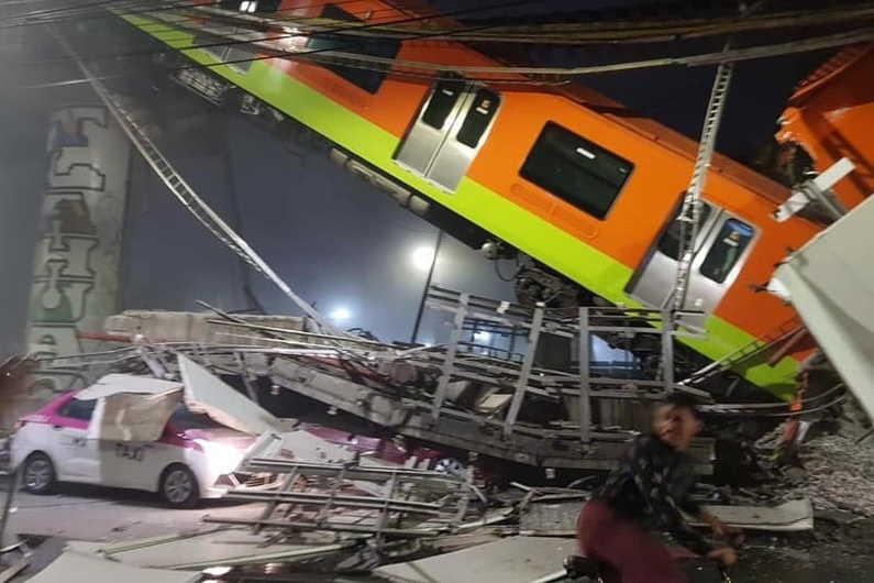 mexico, accidente, accidente ferroviario, metro