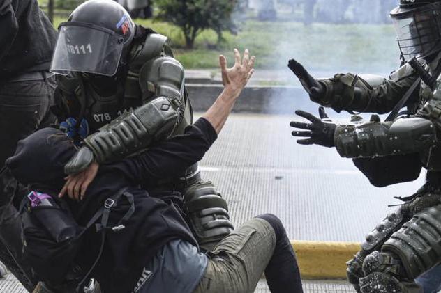 colombia, manifestaciones, represion, protestas, cancilleria de cuba