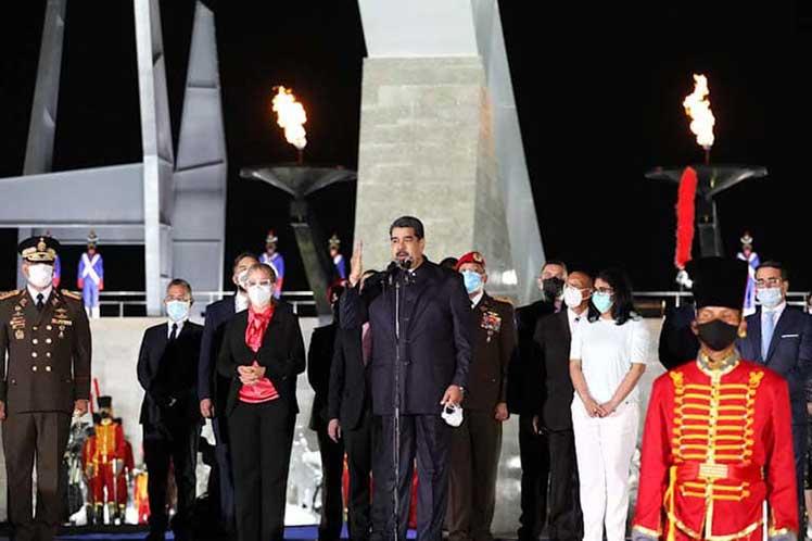 Maduro inauguró las nuevas obras monumentales dedicadas al bicentenario de la batalla decisiva librada el 24 de junio de 1821. (Foto: PL)